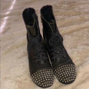 """Tarnney"" Spiked and studded combat boots"